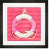 Ring Floatie Pink Framed Art Print