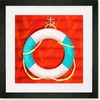 Ring Floatie Red Framed Art Print