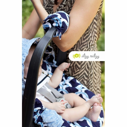 Ritzy Wrap Infant Carrier Arm Pad in Social Circle Blue