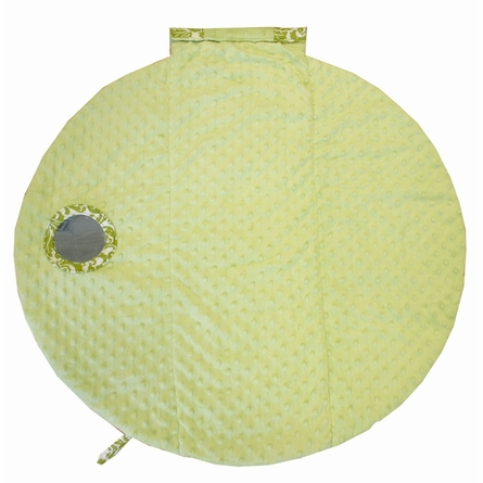 Wrap & Roll Mat in Avocado Damask