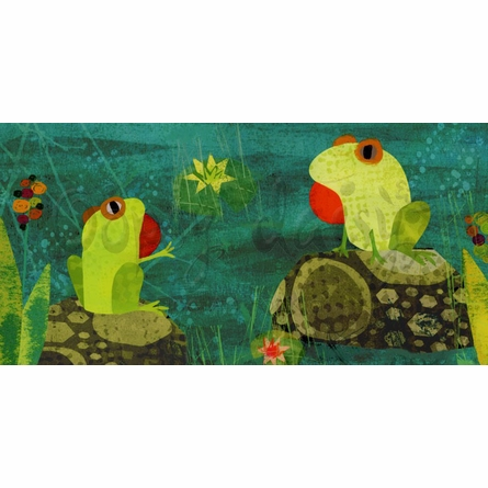 River Frogs Canvas Wall Art