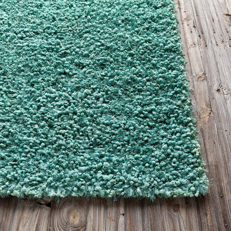 Riza Shag Rug In Teal By Chandra Rugs