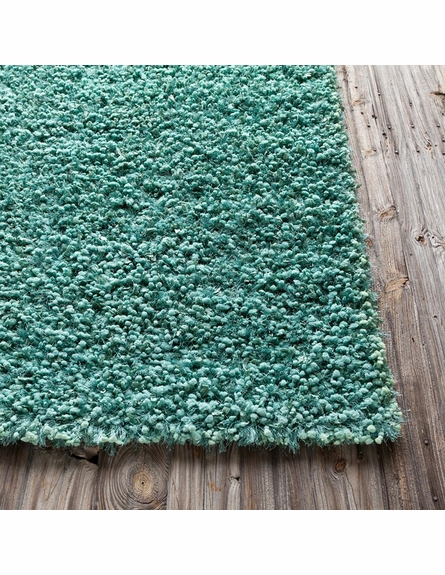 Riza Shag Rug in Teal