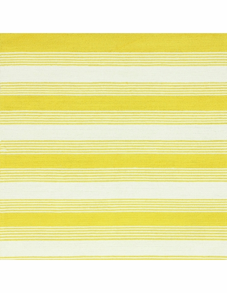 Rizo Striped Rug in Yellow