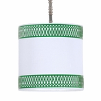 Ro Sham Beaux Lattice Drum Shade Pendant