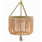 Ro Sham Beaux Malibu Blush Beaded Chandelier