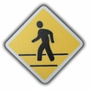 Road Sign Pedestrian Crossing Drawer Pull