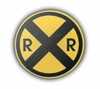 Road Sign Railroad Crossing Drawer Pull