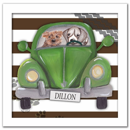 Road Trip on Stripes Canvas Reproduction
