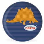 Roar Dark Blue Personalized Kids Plate