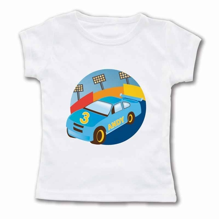 Roaring Race Car Personalized T-Shirt