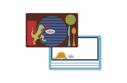 Roarosaurus Personalized Kids Reversible Placemat