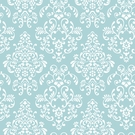 Robin's Egg Blue Delicate Damask Wallpaper