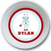 Robot Love Personalized Melamine Bowl