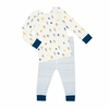 Robot March Cobalt Baby Pajamas