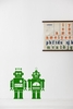 Robots in Green Kids Wall Stickers