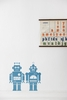 Robots in Light Blue Kids Wall Stickers