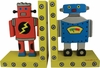 Robots Wooden Bookends