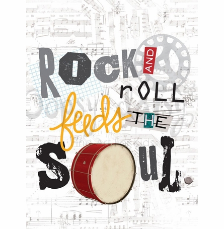Rock and Roll feeds the Soul Canvas Wall Art