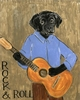 Rock & Roll Dog Canvas Reproduction
