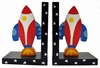 Rockets Wooden Bookends