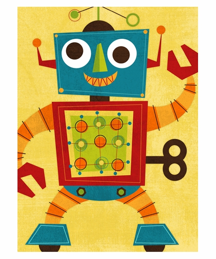 Rockin Robot II Canvas Reproduction