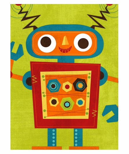 Rockin Robot III Canvas Reproduction