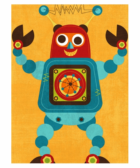 Rockin Robot IV Canvas Reproduction