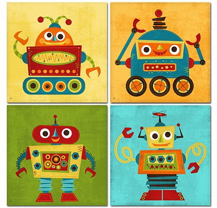 Rockin Robot VI Canvas Reproduction