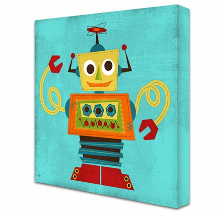 Rockin Robot VII Canvas Reproduction