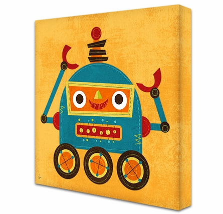 Rockin Robot VIII Canvas Reproduction