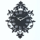 Rococo Silhouette Metal Wall Clock