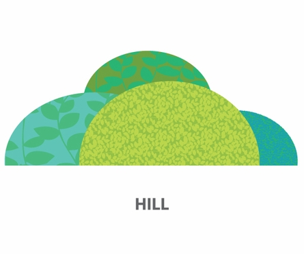 Rolling Hills Fabric Wall Decals