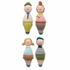 Roly Poly Family Rattles - Set of Four