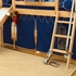 Camelot Twin Poster Bed with Navy Pennant Tent