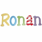 Ronan Plaid Hand Painted Wall Letters