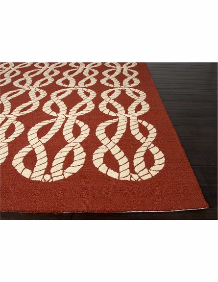 Roped In Rug in Red