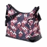 Rose Chevron with Patent Trim Hobo Diaper Bag