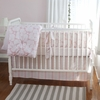 Rose Coral 3-Piece Crib Bedding Set