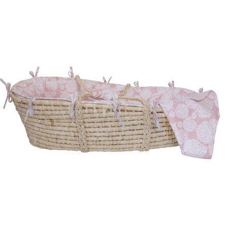 Rose Coral Moses Basket