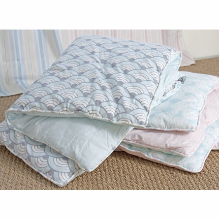 Rose Coral Reversible Crib Quilt