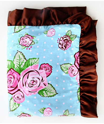 Rose Dot Ruffle Blanket - Boutique Collection