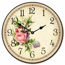 Rose Garden Kids Wall Clock