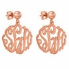 Rose Gold Monogram Earrings - Script