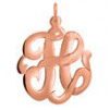 Rose Gold Monogram Initial Necklace - Script