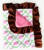 Rose Lattice Ruffle Baby Blanket