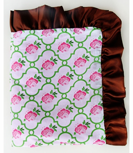 Rose Lattice Ruffle Blanket - Boutique Collection
