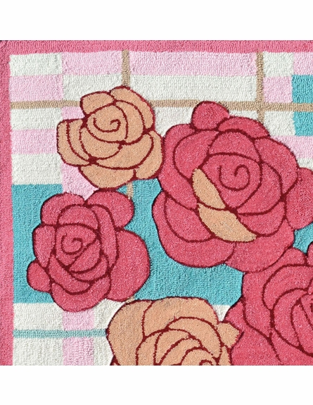 Rose'n Plaid Rug