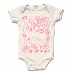 Rose Organic Cotton Sea Life Motifs Original Print Onesie