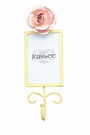 Rose Rectangle Photo Frame Hook in Yellow and Pink